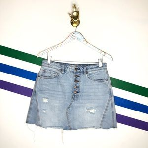NEW We the Free button fly denim skirt